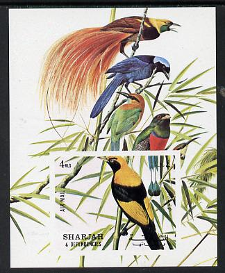 Sharjah 1972 Birds #1 imperf m/sheet unmounted mint, Mi BL 121