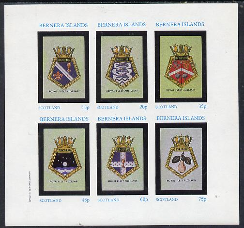 Bernera 1982 Badges (Sir Lancelot, Tidespring etc) imperf set of 6 values (15p to 75p) unmounted mint