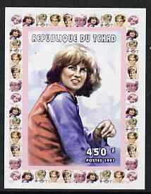 Chad 1997 Princess Diana 450f series #6 imperf deluxe sheet unmounted mint