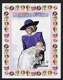 Chad 1997 Princess Diana 450f series #8 imperf deluxe sheet unmounted mint