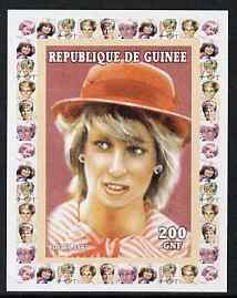 Guinea - Conakry 1997 Princess Diana 200f series #1 imperf deluxe sheet unmounted mint