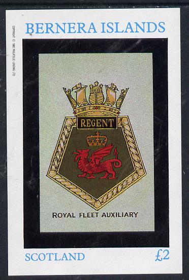 Bernera 1982 Badges (Regent) imperf deluxe sheet (�2 value) unmounted mint