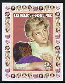 Guinea - Conakry 1997 Princess Diana 200f series #4 imperf deluxe sheet unmounted mint