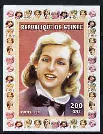 Guinea - Conakry 1997 Princess Diana 200f series #7 imperf deluxe sheet unmounted mint. Note this item is privately produced and is offered purely on its thematic appeal