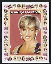 Guinea - Conakry 1997 Princess Diana 200f series #8 imperf deluxe sheet unmounted mint