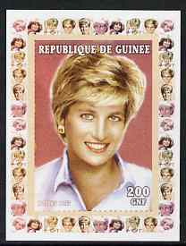 Guinea - Conakry 1997 Princess Diana 200f series #9 imperf deluxe sheet unmounted mint