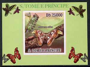 St Thomas & Prince Islands 2009 Butterflies #1 individual imperf deluxe sheet unmounted mint. Note this item is privately produced and is offered purely on its thematic appeal
