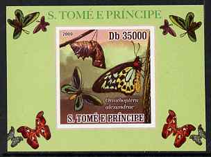 St Thomas & Prince Islands 2009 Butterflies #3 individual imperf deluxe sheet unmounted mint. Note this item is privately produced and is offered purely on its thematic appeal