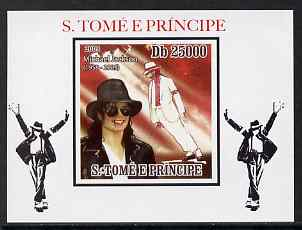 St Thomas & Prince Islands 2009 Michael Jackson #1 individual imperf deluxe sheet unmounted mint. Note this item is privately produced and is offered purely on its thematic appeal