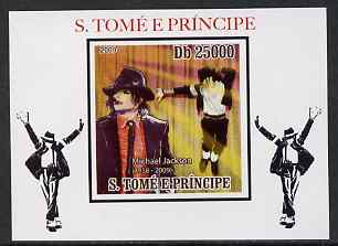 St Thomas & Prince Islands 2009 Michael Jackson #2 individual imperf deluxe sheet unmounted mint. Note this item is privately produced and is offered purely on its thematic appeal