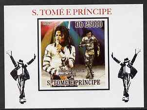 St Thomas & Prince Islands 2009 Michael Jackson #4 individual imperf deluxe sheet unmounted mint. Note this item is privately produced and is offered purely on its thematic appeal