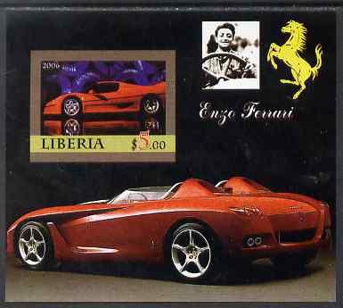Liberia 2006 Enzo Ferrari #2 imperf m/sheet unmounted mint