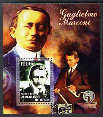 Benin 2006 Guglielmo Marconi #1 perf m/sheet unmounted mint. Note this item is privately produced and is offered purely on its thematic appeal