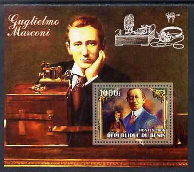 Benin 2006 Guglielmo Marconi #2 perf m/sheet unmounted mint
