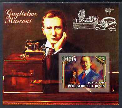 Benin 2006 Guglielmo Marconi #2 imperf m/sheet unmounted mint. Note this item is privately produced and is offered purely on its thematic appeal