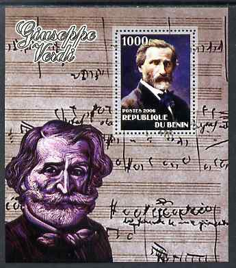Benin 2006 Giuseppe Verdi #2 perf m/sheet unmounted mint. Note this item is privately produced and is offered purely on its thematic appeal
