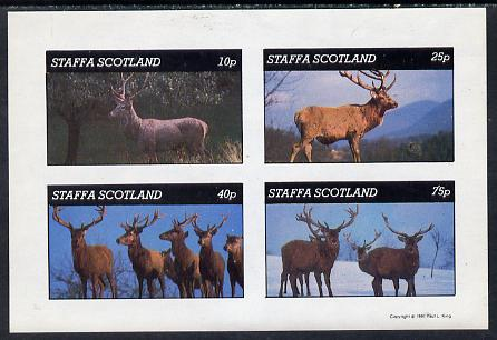 Staffa 1981 Deer imperf  set of 4 values (10p to 75p) unmounted mint