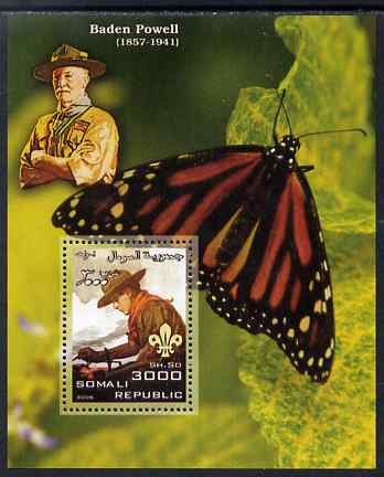 Somalia 2006 Scouts & Butterflies #1 perf s/sheet unmounted mint (Scout image by Norman Rockwell)