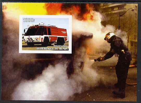 Benin 2004 Fire Engines #4 imperf m/sheet unmounted mint. Note this item is privately produced and is offered purely on its thematic appeal