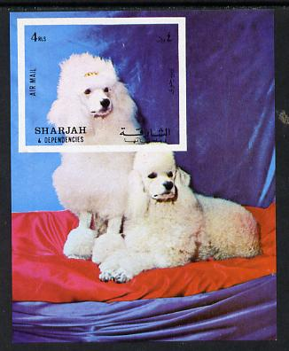 Sharjah 1972 Dogs (Poodles) imperf m/sheet unmounted mint (Mi BL 119)