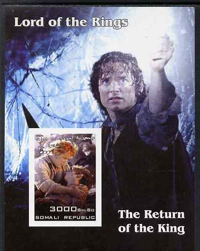 Somalia 2004 Lord of the Rings - The Return of the King #1 imperf souvenir sheet unmounted mint. Note this item is privately produced and is offered purely on its thematic appeal