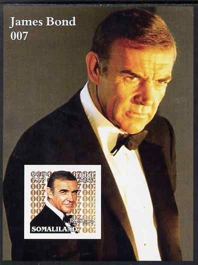 Somaliland 2002 James Bond (Sean Connery) #1 imperf m/sheet unmounted mint. Note this item is privately produced and is offered purely on its thematic appeal