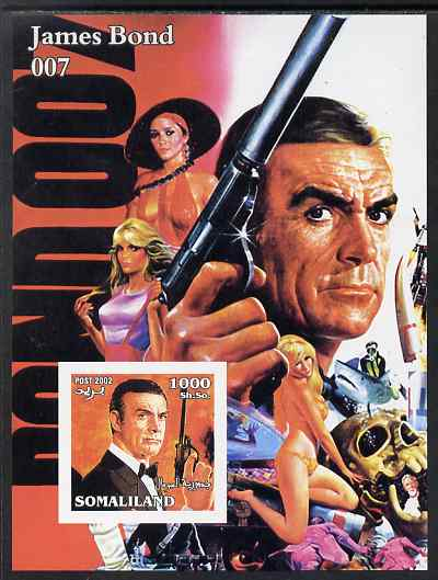Somaliland 2002 James Bond (Sean Connery) #2 imperf m/sheet unmounted mint. Note this item is privately produced and is offered purely on its thematic appeal