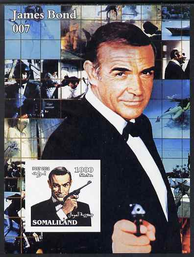 Somaliland 2002 James Bond (Sean Connery) #3 imperf m/sheet unmounted mint