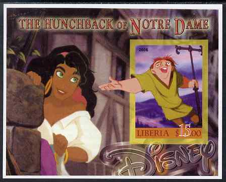 Liberia 2006 Walt Disney - The Hunchback of Notre Dame imperf m/sheet unmounted mint