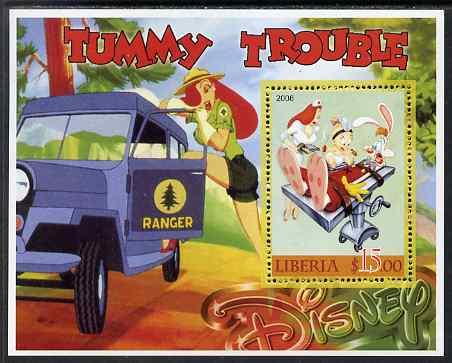 Liberia 2006 Walt Disney - Tummy Trouble perf m/sheet unmounted mint