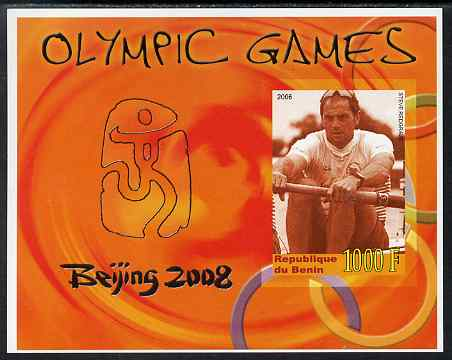Benin 2006 Beijing Olympic Games imperf m/sheet (Steve Redgrave) unmounted mint. Note this item is privately produced and is offered purely on its thematic appeal