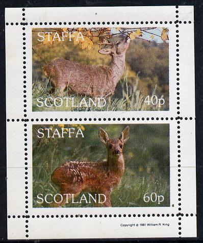 Staffa 1981 Deer perf  set of 2 values (40p & 60p) unmounted mint
