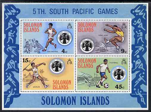 Solomon Islands 1975 Fifth South Pacific Games perf m/sheet unmounted mint SG MS 280