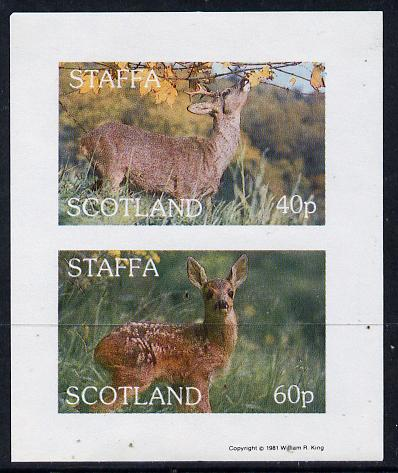Staffa 1981 Deer imperf  set of 2 values (40p & 60p) unmounted mint