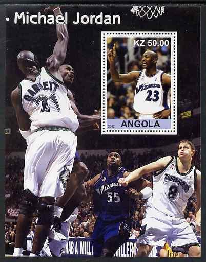 Angola 2002 Michael Jordan #2 perf souvenir sheet unmounted mint