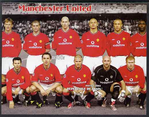 Benin 2003 Manchester United Football Club imperf s/sheet unmounted mint