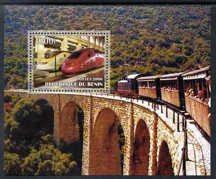 Benin 2006 Railways #3 perf m/sheet unmounted mint