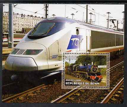 Benin 2006 Railways #4 perf m/sheet unmounted mint
