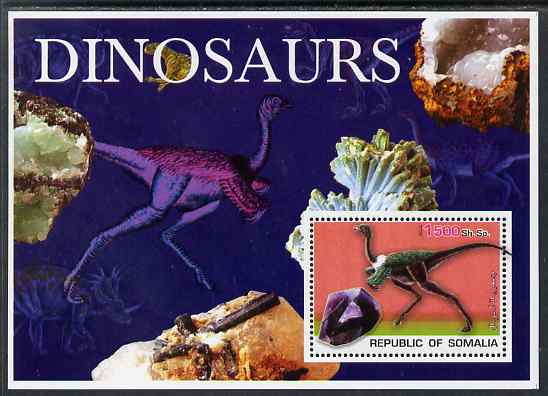 Somalia 2003 Dinosaurs & Minerals perf souvenir sheet unmounted mint