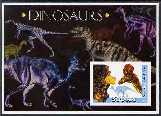 Benin 2003 Dinosaurs & Minerals imperf m/sheet unmounted mint. Note this item is privately produced and is offered purely on its thematic appeal