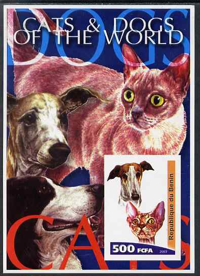 Benin 2003 Cats & Dogs of the World imperf m/sheet unmounted mint. Note this item is privately produced and is offered purely on its thematic appeal