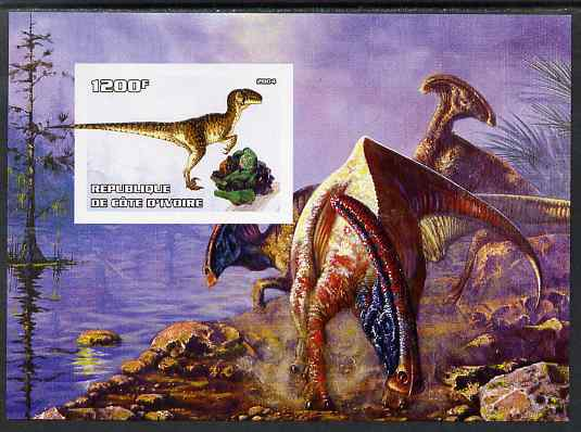 Ivory Coast 2004 Dinosaurs #2 imperf m/sheet unmounted mint