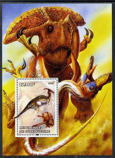 Ivory Coast 2004 Dinosaurs #3 perf m/sheet unmounted mint. Note this item is privately produced and is offered purely on its thematic appeal
