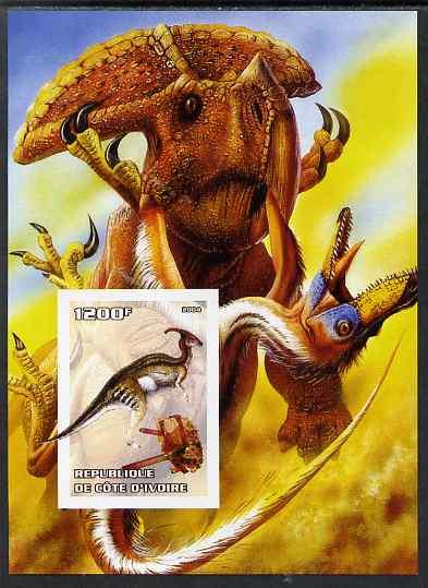 Ivory Coast 2004 Dinosaurs #3 imperf m/sheet unmounted mint
