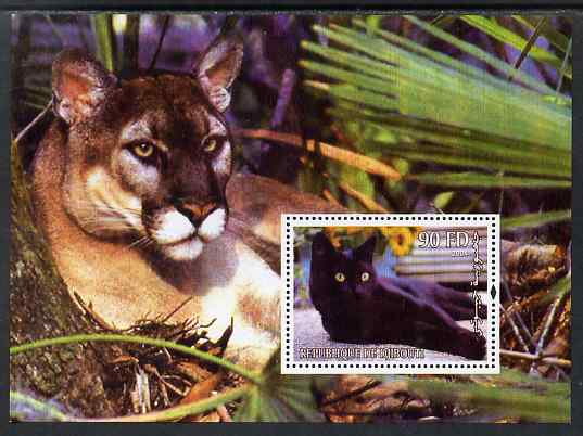 Djibouti 2004 Cats #3 (Domestic & Big cats) perf m/sheet unmounted mint