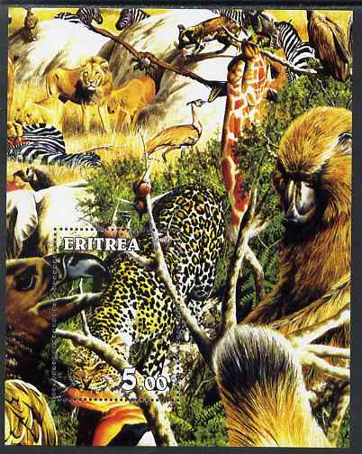 Eritrea 2002 African Wildlife #1 composite perf m/sheet unmounted mint