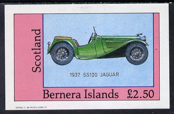 Bernera 1982 Sports Cars (1937 Jaguar) imperf deluxe sheet (�2.50 value) unmounted mint