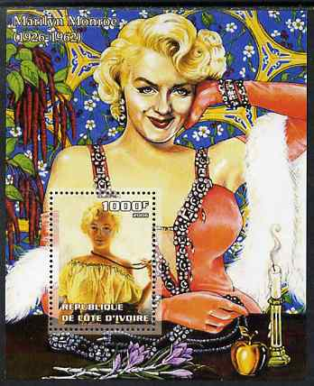 Ivory Coast 2006 Marilyn Monroe perf m/sheet unmounted mint