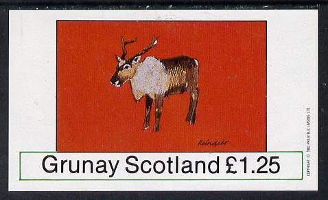 Grunay 1982 Deer (Reindeer) imperf souvenir sheet (�1.25 value) unmounted mint