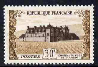 France 1951 Chateau Clos de Vougeot 30f unmounted mint SG 1135